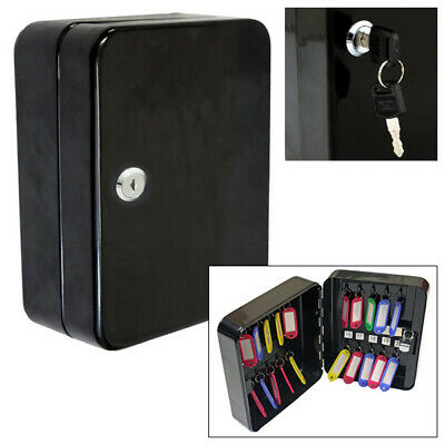 Voche 20 Hook Wall Mountable Lockable Steel Key Safe Cabinet Security Box & Fobs
