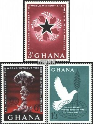 Ghana 121-123 (complete issue) unmounted mint / never hinged 1962 Accra-Conferen