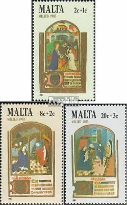 Malta 687-689 (complete issue) unmounted mint / never hinged 1983 christmas