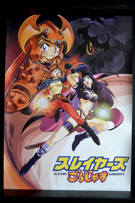 SLAYERS GORGEOUS   1998   ORIGINAL VINTAGE ANIME POSTER aus JAPAN 73x51,5cm 4606