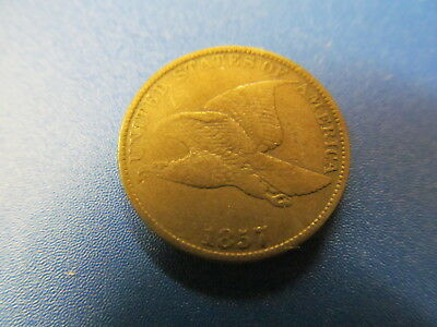 1857  Flying Eagle Cent - Circulated Coin -
