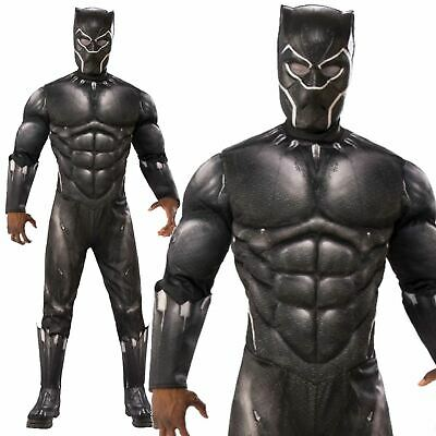 Adult Official Deluxe Black Panther Infinity War Fancy Dress Costume Cosplay New