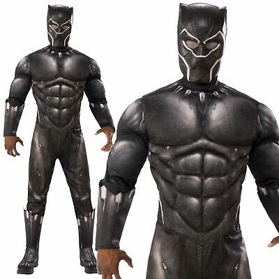 Mens Official Black Panther Avengers Endgame Fancy Dress Superhero Costume