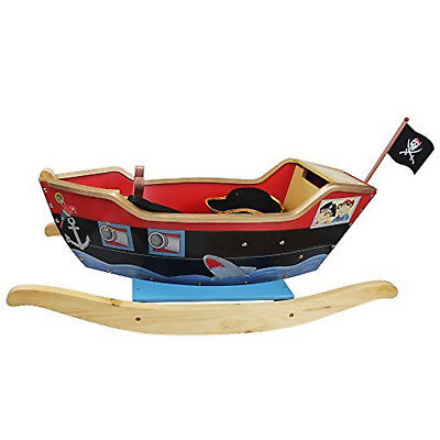 Teamson Kids Pirate Ship Ride On Rocking Toy with Sword, Scope and Hat …