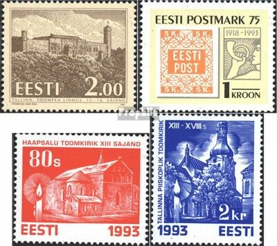Estonia 213,214,216-217 (complete issue) unmounted mint / never hinged 1993 spec