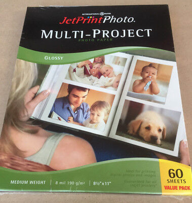 Photo Paper Multi-Project JetPrint Photo 60 Sheets Unopened Package