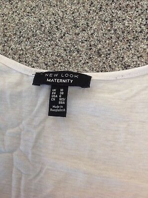 5 grey & white new look maternity tops tshirts & vests size 10