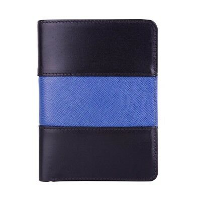Police Leather Badge Wallet- Universal Fit -Pin Back Badge- Thin Blue Line