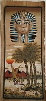 Hand made Papyrus of Egyptian Kings Pharaohs Art Painting.34 inch × 15 inch