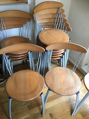 cafe chairs job lot 13 stackable steel frame modern design office canteen
