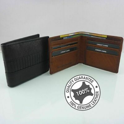 Men's Genuine Full Grain Premium Cowhide RUGGED HIDE Leather Wallet 8 Cards Ne