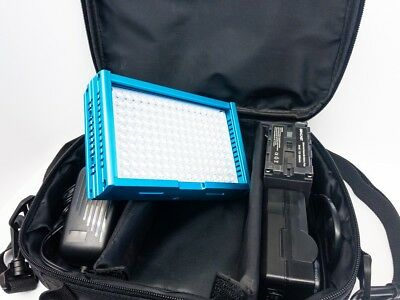 Dracast LED160 5600k On Camera Light w/ Battery and Charger (Aluminum, Blue)
