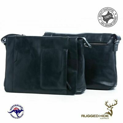 Men's Genuine Rugged Hide Leather Messenger Bag Satchel Shoulder Bag leather bag