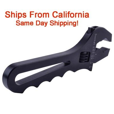 AN3-AN16 Adjustable Black AN Wrench Fitting Tools Aluminum Spanner