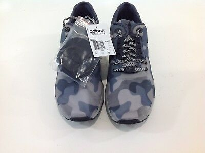 f3d2225628c81 New Adidas ZX Flux Decon Camo Mens M19685 Onix Grey Black Running Shoes  Size 12