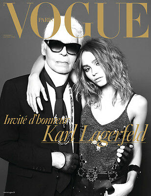 French VOGUE PARIS #973 - KARL LAGERFELD & LILY ROSE DEPP - January 2017 - New