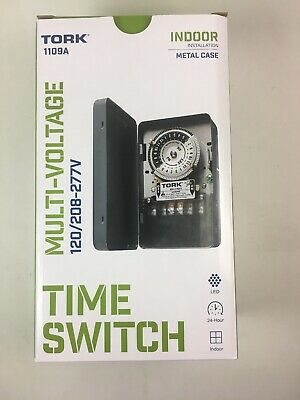 Tork 1101B 42 40A Hour Time Switch Indoor 120V Replaces Paragon Trippers X772
