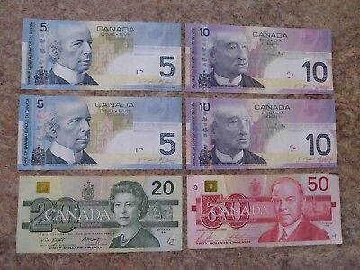 Bank of Canada Canadian Paper Money Banknotes $100 Face Value Notes