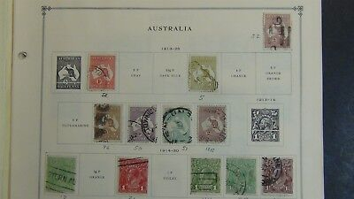 Australia Stamp collection on Scott Int'l album pages - '72 or so ~ w/294