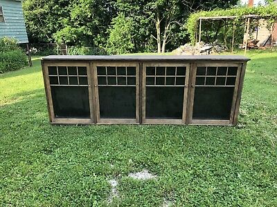 Primitive Farm House Cherry Wood Jelly Cupboard Pantry Kitchen  Cabinet
