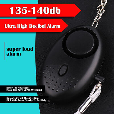 Personal Safety Alarm Anti-Attack Rape Security Self Defense Keychain 140db Loud