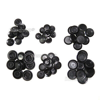 60 Piece Flush Mount Black Plastic Hole Plug Assortment Auto Body Sheet Metal