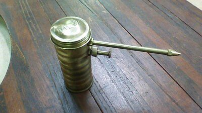 Eagle 66 Brass Machinists Oil Can Oiler Pump Fixed Spout USA Oil Advertising