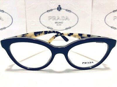 b020d9df4c42 Prada VPR 11R TFN-1O1 Gray/White Havana New Authentic Eyeglasses Rx Frame  50mm
