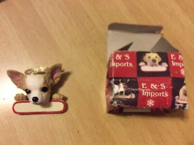 E&S IMPORTS Christmas Pet Lover CHIHUAHUA  Dog Ornament U Personalize It!