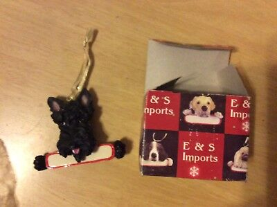 E&S IMPORTS Christmas Pet SCOTTISH TERRIER Dog Ornament Gift You Personalize It!