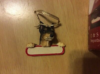 E&S IMPORTS Christmas Pet Lover MINI PINSCHER Dog Ornament Gift Personalize It!