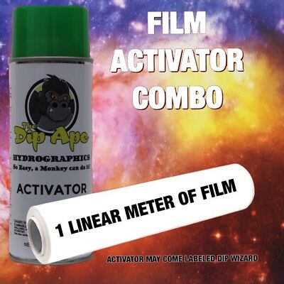 GALAXY 1 DIP APE ACTIVATOR FILM COMBO HYDROGRAPHIC WATER TRANSFER