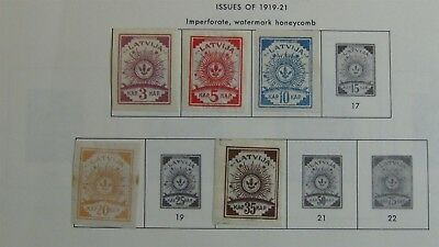 Latvia Stamp collection on Minkus pages 1919 -'96 or so