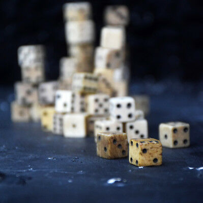 Rare collection of 60 individual Napoleonic Prisoner of War Dice