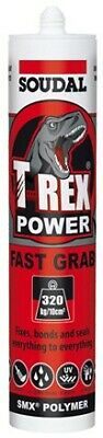 Soudal T-Rex Beach Sand MS Polymer Sealant and Adhesive 310ml Cartridge Extra...