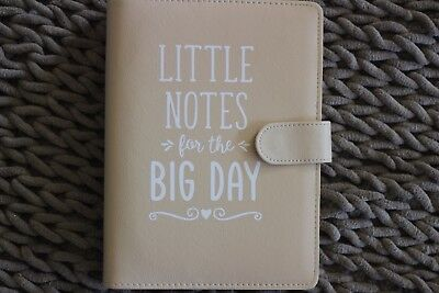 """""""Little Notes for the Big Day"""" Wedding Organiser - Cream - Personalised"""