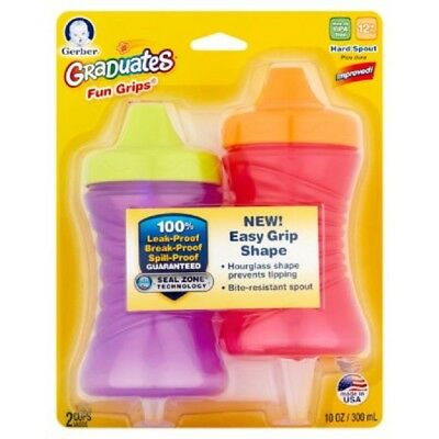 Gerber Graduates Sippy Cup Toddlers Cup Baby Cups Assorted Colors, 10 oz 2 Cups