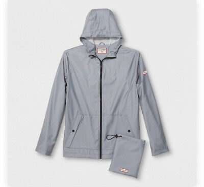 91da28679ae NWT HUNTER FOR Target Unisex Hooded Rain Jacket Packable Metallic ...