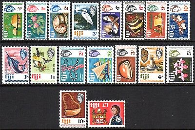 1968 FIJI PICTORIALS DEFINITIVES SG371-387 mint unhinged