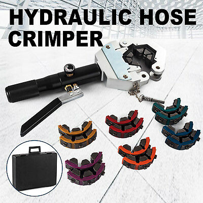 71500 A/C Hose Crimper Tool Kit Manual Hydraulic Crimper Portable Crimping