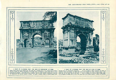 1915 Arch Of Constantine Rome Arch Of Titus Italian Field-howitzer 140-mm Gun