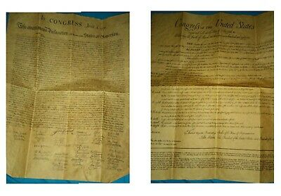 US Declaration of Independence & Bill of Rights Historical Reproduction 2 Poster