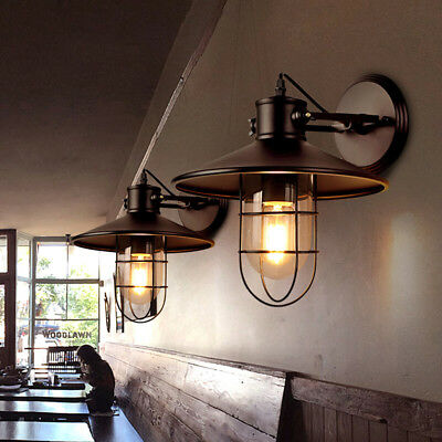 Antique Retro Industrail Wall Light Vintage Loft LED Wall Sconce Fixture Outdoor
