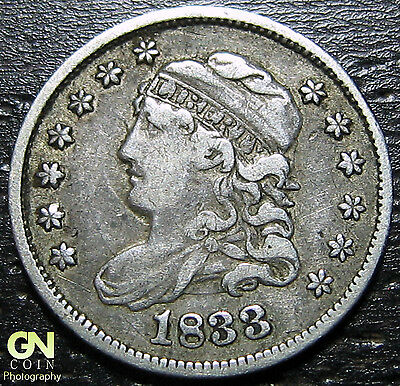 1833 P Capped Bust Half Dime  --  MAKE US AN OFFER!  #W2007  ZXCV