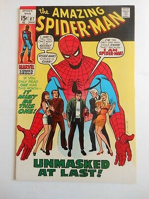 Amazing Spider-Man #87 In Nm- Or Better Conditon