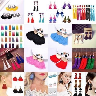 Fashion Women Bohemian Ethnic Tassel Dangle Hook Drop Boho Earring Jewelry AU