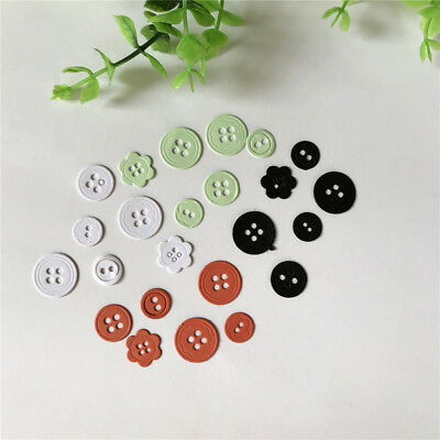 Button Design Metal Cutting Dies For DIY Scrapbooking Paper CardsFE