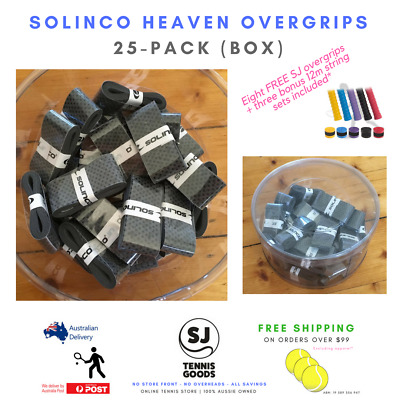 SOLINCO – tennis racket string grips bulk heaven *grey racquet overgrips 25-pack