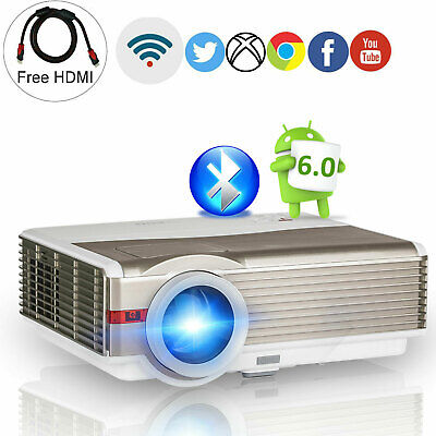 8000LMS Android Smart Projector HD Bluetooth Outdoor Party Film Wireless Ariplay