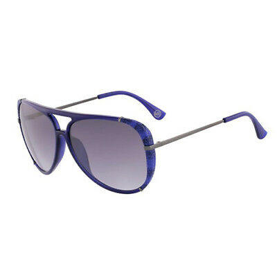 703ffba8b6 Michael Kors Julia Womens Blue MK UV400 Aviator Sunglasses Shades M2484S 414